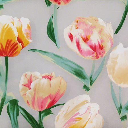 "Waverly, Sensation, Tulips, Heather Upholstery Fabric - 54"""