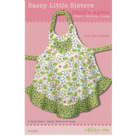 Sassy Little Sister Children's Apron, Cabbage Rose