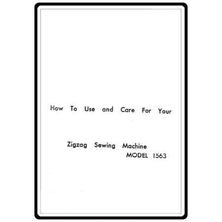 Instruction Manual, White 1563