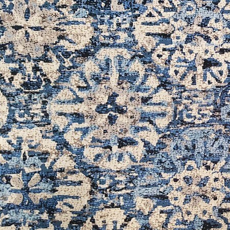 "Waverly, Craft Culture, Indigo Upholstery Fabric - 55"""