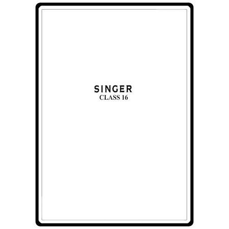 Instruction Manual, Singer 16