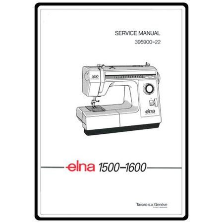 Service Manual, Elna 1600