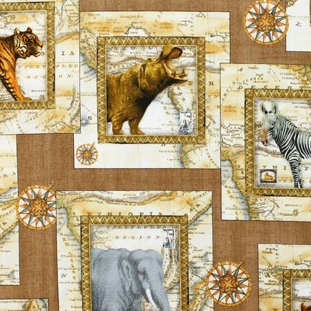 Out of Africa, Safari Fabric, Quilting Treasures