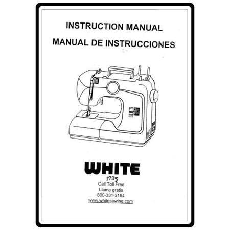 Instruction Manual, White 1735