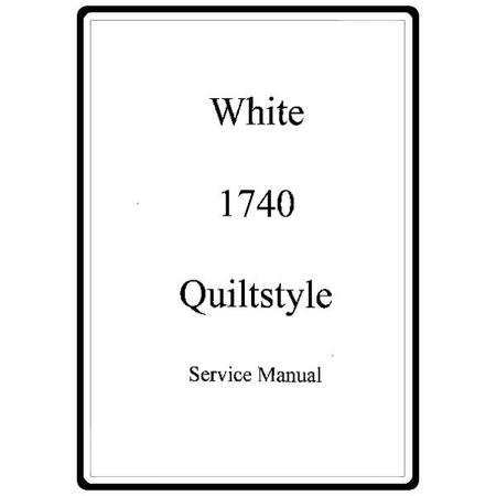 Service Manual, White 1740