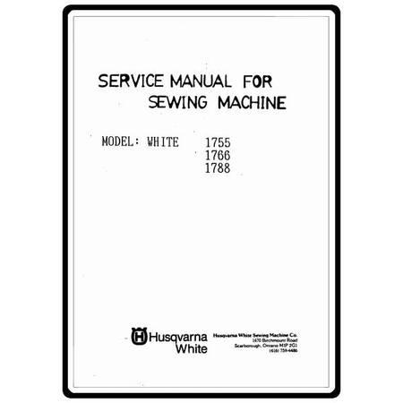 Service Manual, White 1788