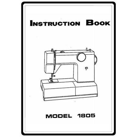 Instruction Manual, White 1805