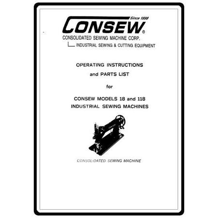 Instruction Manual, Consew 18
