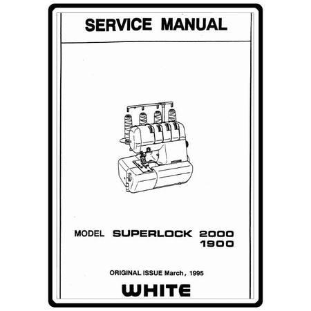 Service Manual, White 1900