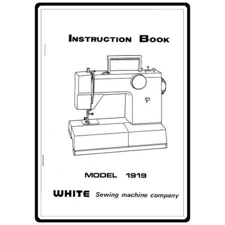 Instruction Manual, White 1919