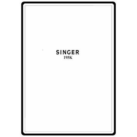 Instruction Manual, Singer 195K