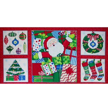 "Moda, Ho Ho Ho 36"" Fabric Panel, Santa Suit"