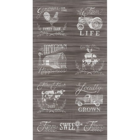 Moda, Homegrown, Distressed Wood Fabric Panel, Brown
