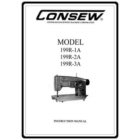 Instruction Manual, Consew 199R-3A