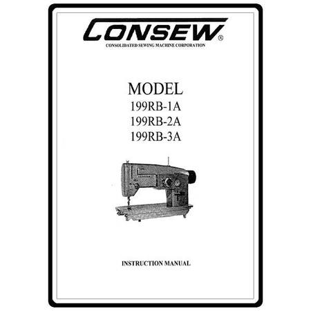 Instruction Manual, Consew 199RB-1A