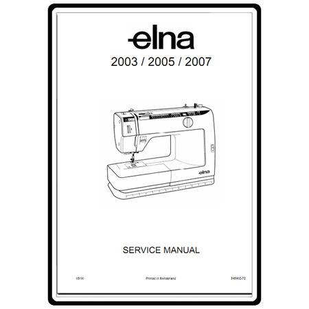 Service Manual, Elna 2003