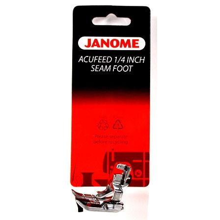 "1/4"" Acufeed Seam Presser Foot, Janome #202031002"