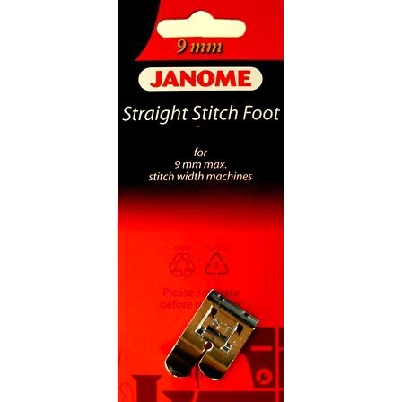 Straight Stitch Foot, Janome #202083009