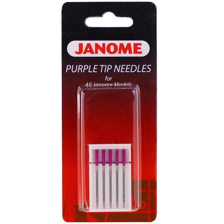 5pk Purple Tip Needles (15x1), Janome #202122001