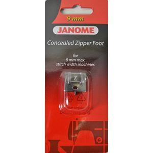 Concealed Zipper Foot, Janome #202144009