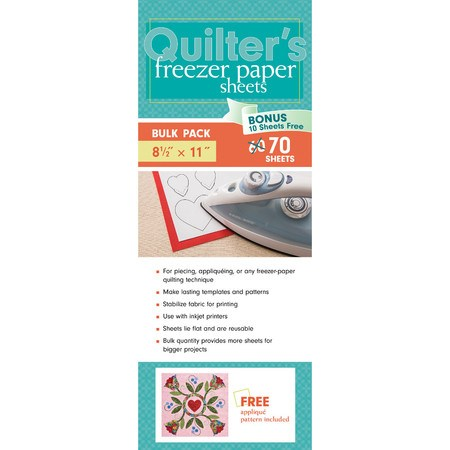 "Quilter's Freezer Paper Sheets (70pk), 8-1/2""x 11"""