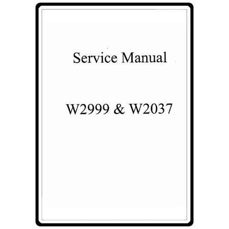 Service Manual, White 2037