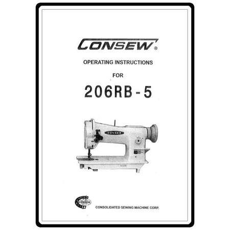 Instruction Manual, Consew 206RB-5