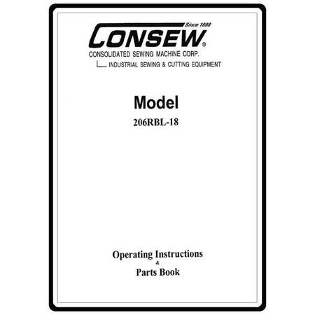 Instruction Manual, Consew 206RBL-18
