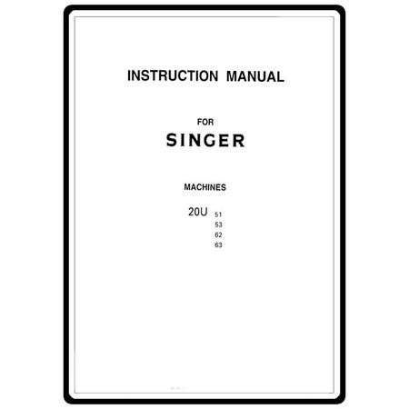 Instruction Manual, Singer 20U51