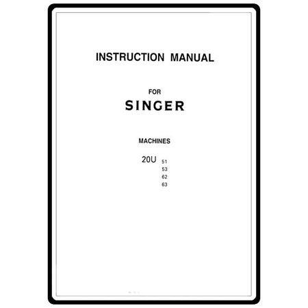 Instruction Manual, Singer 20U53