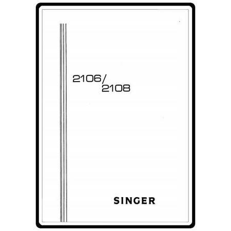 Instruction Manual, Singer 2108