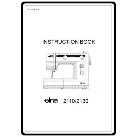 Instruction Manual, Elna 2110