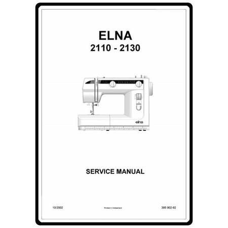 Service Manual, Elna 2130
