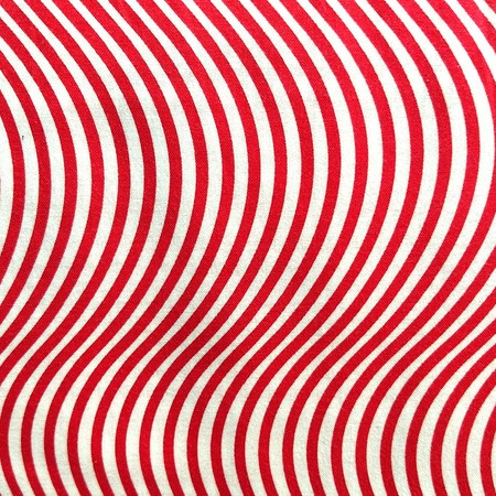 Me and My Sister Designs, Wavy Stripes Fabric, Red and White