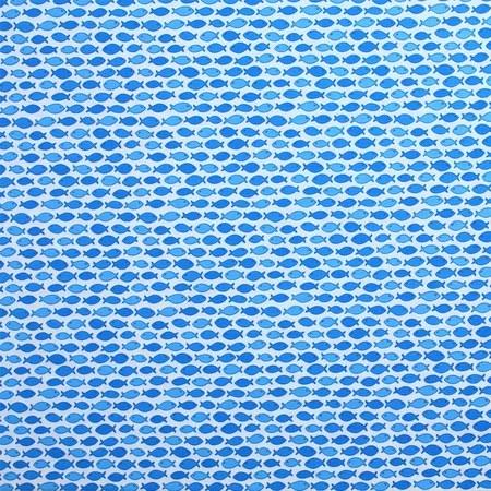 Moda, Rainy Day, Fish Fabric - Blue
