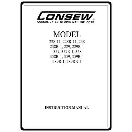Instruction Manual, Consew 228-11