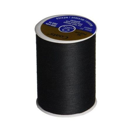 Dual Duty General Purpose Thread - Black, Coats & Clark (400 yds)