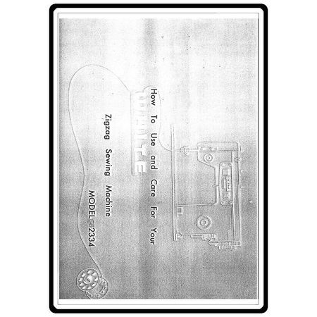 Instruction Manual, White 2334