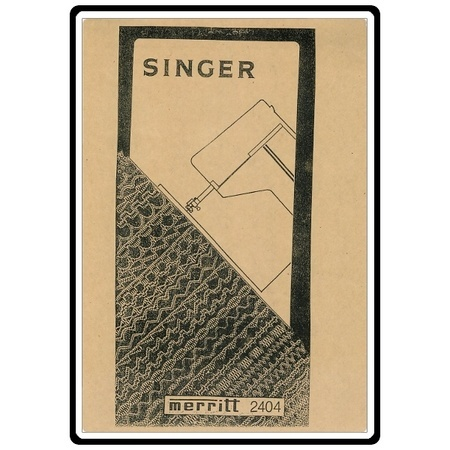 Instruction Manual, Singer 2430