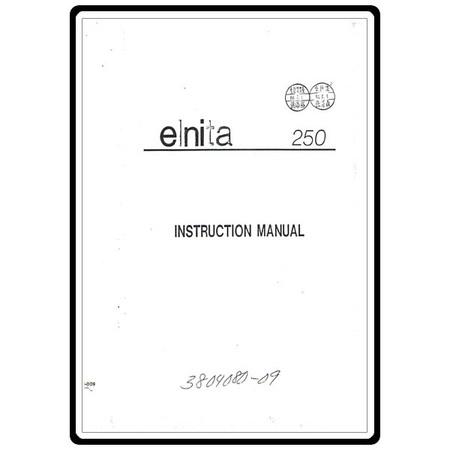 Instruction Manual, Elna 250