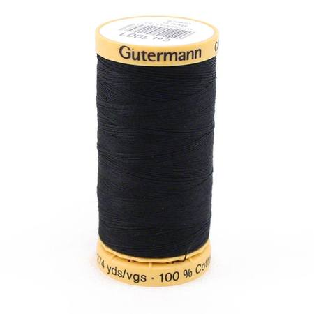 Black, Gutermann, Natural Cotton Thread (273 yards)