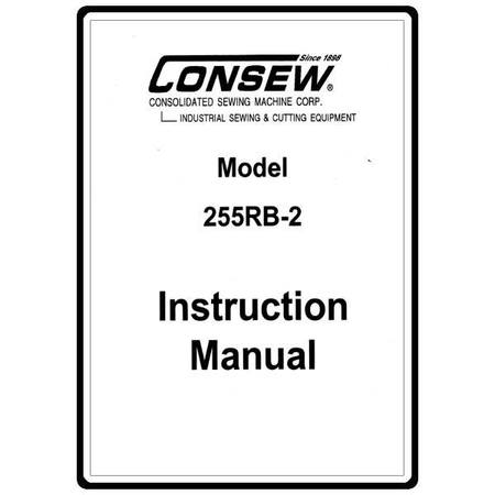 Instruction Manual, Consew 255RB-2