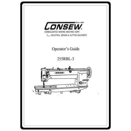 Instruction Manual, Consew 255RBL-3