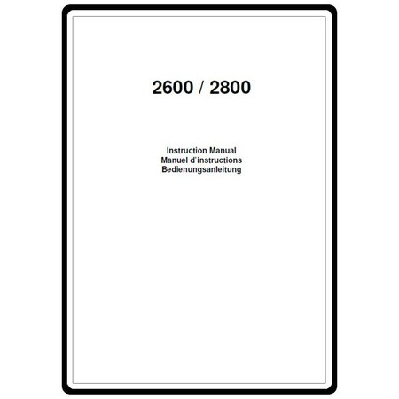 Instruction Manual, Elna 2800