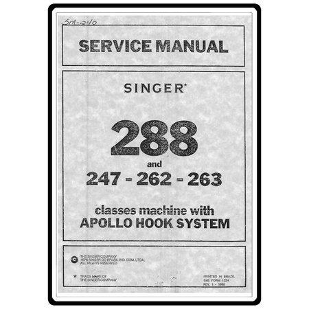 Service Manual, Singer 262
