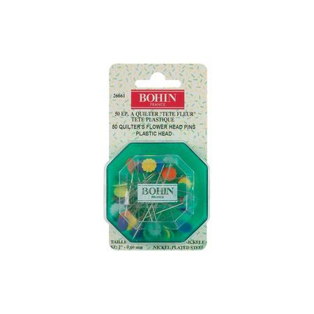 "Quilter's 2"" Flower Head Pins, Bohin #26661"