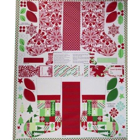 "Moda, Jingle 24"" Fabric Panel, Multi"
