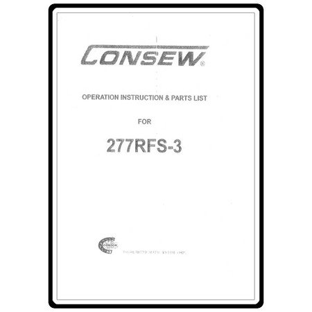 Instruction Manual, Consew 277RFS-3