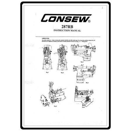 Instruction Manual, Consew 287RB
