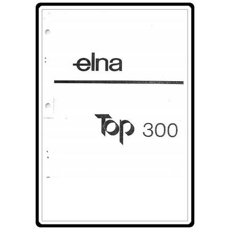 Instruction Manual, Elna Top 300